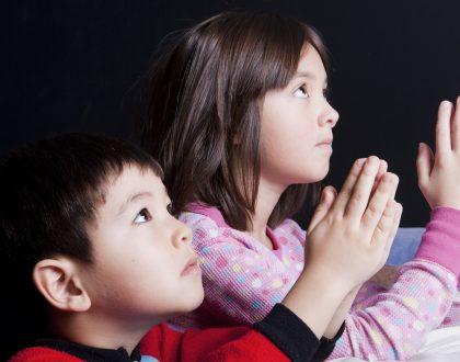 Enseñando a los niños a orar