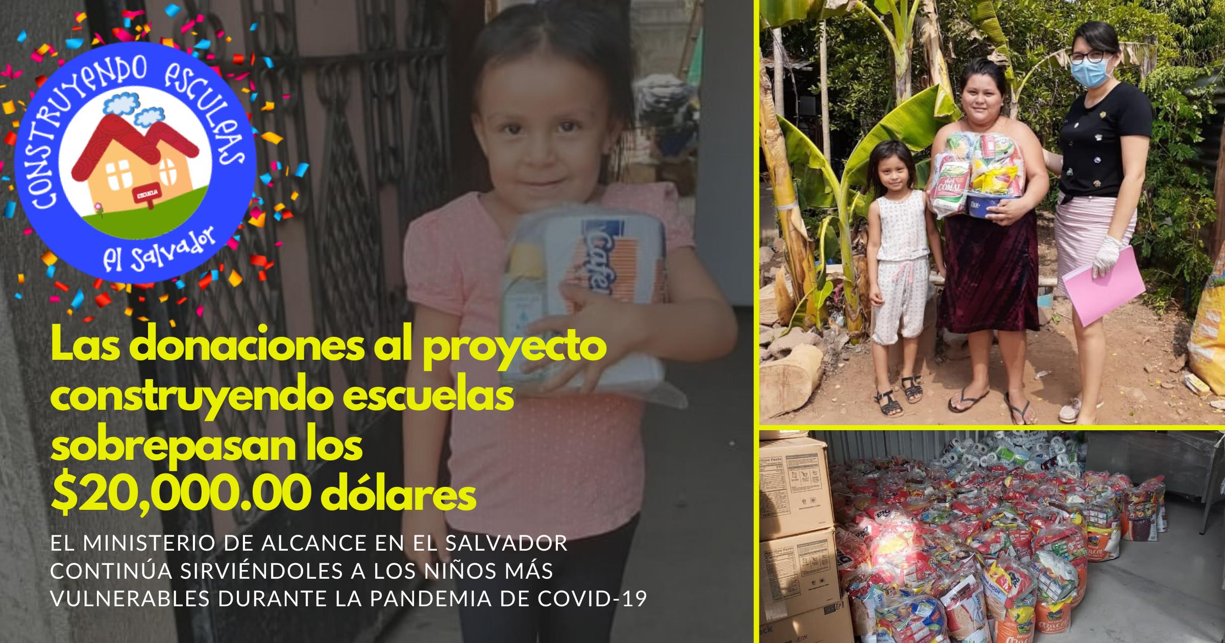 Las donaciones al Proyecto construyendo escuelas sobrepasan los $20,000.00 dólares