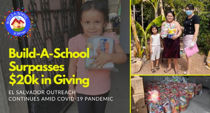 Project Build-A-School Surpasses $20k, El Salvador Outreach Continues