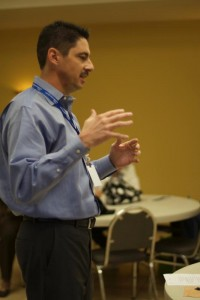 Brian Sutton, lead pastor of Peerless Road Church, teaches a class on turning sermons into books.