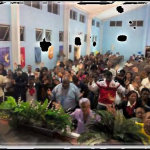 What an array of beautiful lively, Caribbean colors decorating the altar as hands of seekers stretched towards heaven receiving the Holy Spirit whom we have invited to come among us for greater ministry..